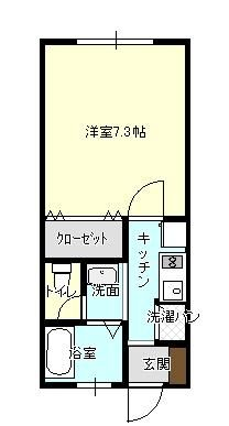 間取図(角部屋です)