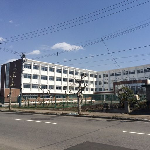 函館市立巴中学校 1906m