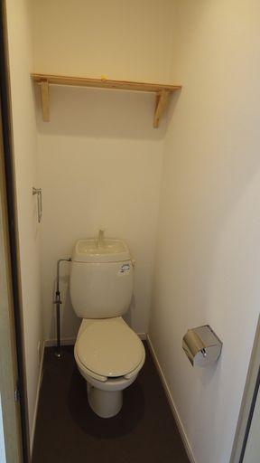 トイレに本も置けそうです。