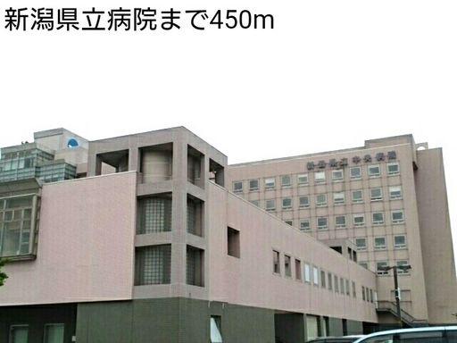 新潟県立中央病院 450m