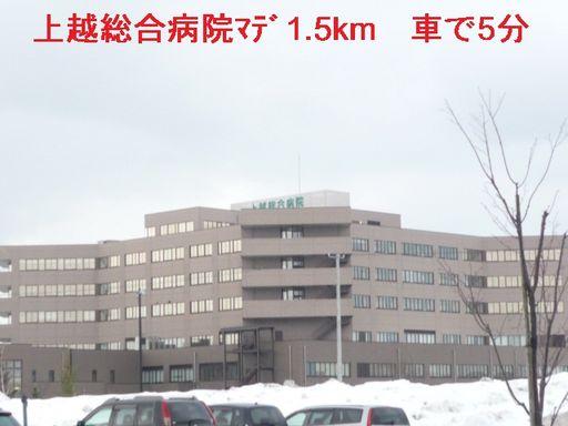 上越総合病院 1500m